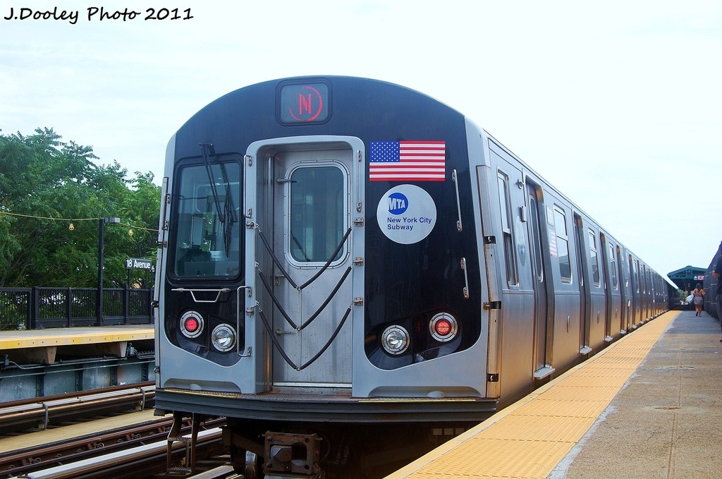 (303k, 1024x679)<br><b>Country:</b> United States<br><b>City:</b> New York<br><b>System:</b> New York City Transit<br><b>Line:</b> BMT West End Line<br><b>Location:</b> 79th Street <br><b>Route:</b> N reroute<br><b>Car:</b> R-160B (Kawasaki, 2005-2008)  8968 <br><b>Photo by:</b> John Dooley<br><b>Date:</b> 7/23/2011<br><b>Viewed (this week/total):</b> 0 / 683