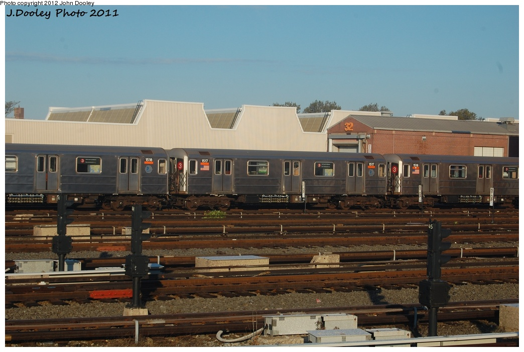 (289k, 1044x701)<br><b>Country:</b> United States<br><b>City:</b> New York<br><b>System:</b> New York City Transit<br><b>Location:</b> Coney Island Yard<br><b>Car:</b> R-62 (Kawasaki, 1983-1985)  1517 <br><b>Photo by:</b> John Dooley<br><b>Date:</b> 10/15/2011<br><b>Viewed (this week/total):</b> 0 / 337