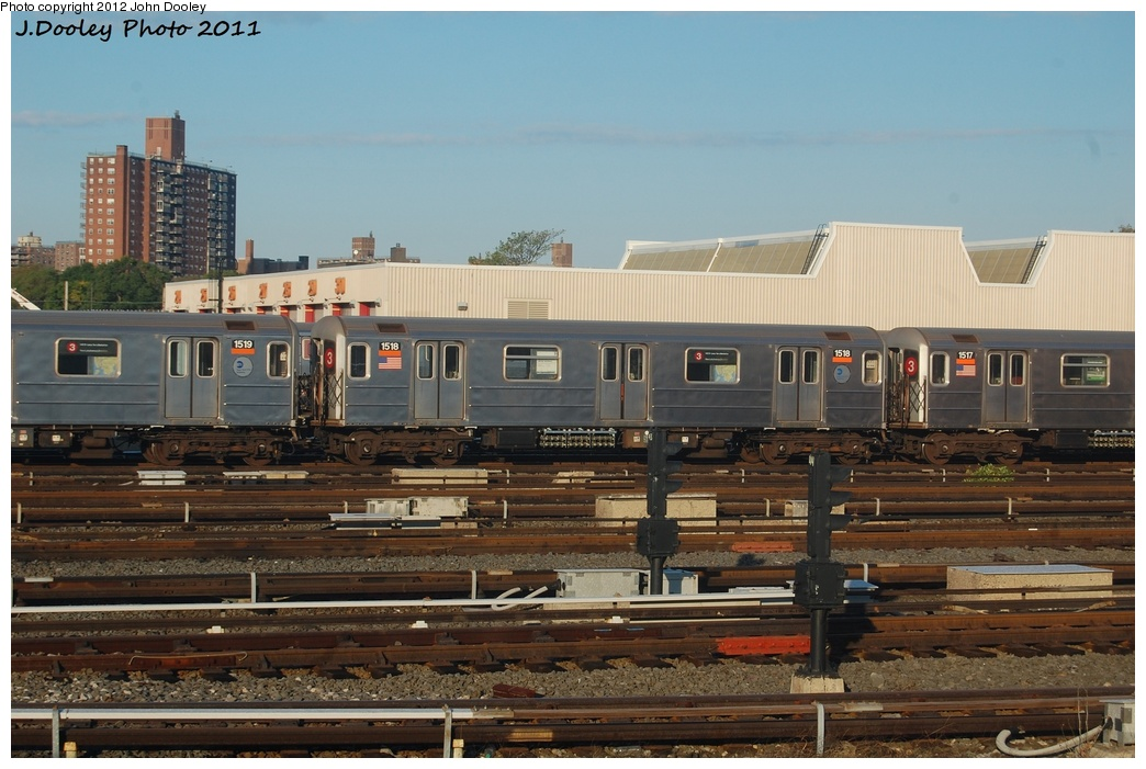 (300k, 1044x701)<br><b>Country:</b> United States<br><b>City:</b> New York<br><b>System:</b> New York City Transit<br><b>Location:</b> Coney Island Yard<br><b>Car:</b> R-62 (Kawasaki, 1983-1985)  1518 <br><b>Photo by:</b> John Dooley<br><b>Date:</b> 10/15/2011<br><b>Viewed (this week/total):</b> 5 / 208