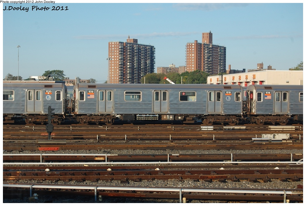 (329k, 1044x701)<br><b>Country:</b> United States<br><b>City:</b> New York<br><b>System:</b> New York City Transit<br><b>Location:</b> Coney Island Yard<br><b>Car:</b> R-62 (Kawasaki, 1983-1985)  1519 <br><b>Photo by:</b> John Dooley<br><b>Date:</b> 10/15/2011<br><b>Viewed (this week/total):</b> 1 / 391