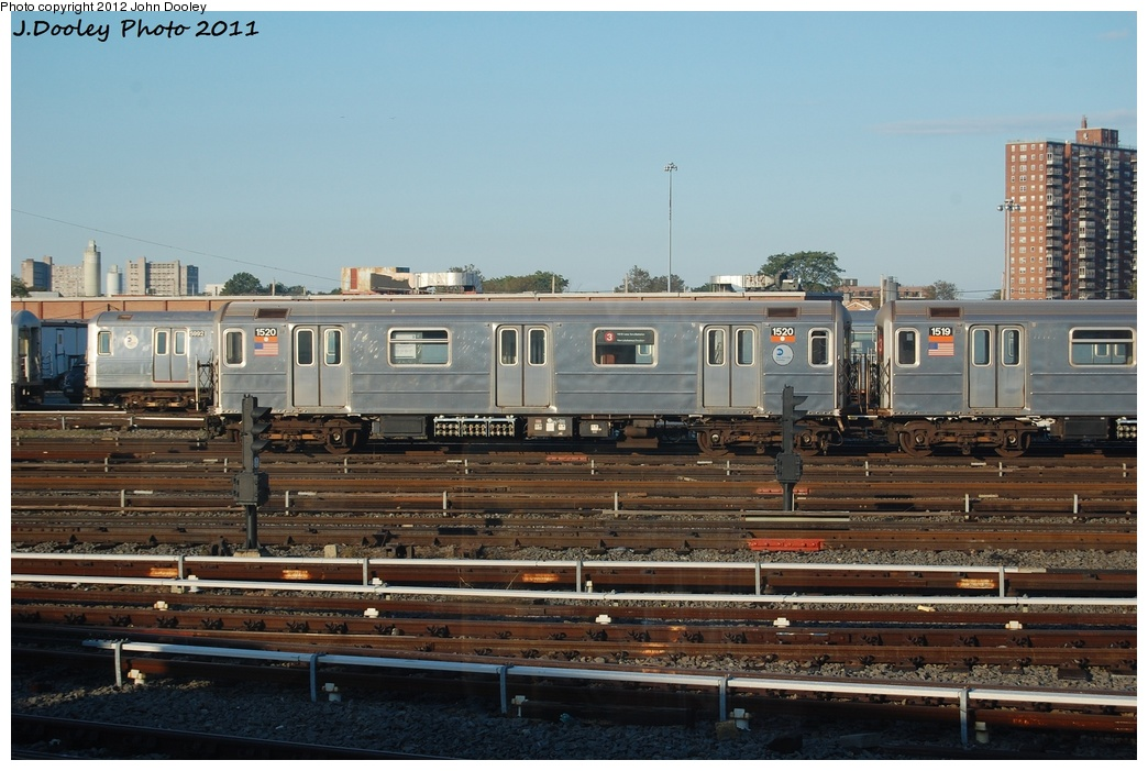 (303k, 1044x701)<br><b>Country:</b> United States<br><b>City:</b> New York<br><b>System:</b> New York City Transit<br><b>Location:</b> Coney Island Yard<br><b>Car:</b> R-62 (Kawasaki, 1983-1985)  1520 <br><b>Photo by:</b> John Dooley<br><b>Date:</b> 10/15/2011<br><b>Viewed (this week/total):</b> 0 / 372