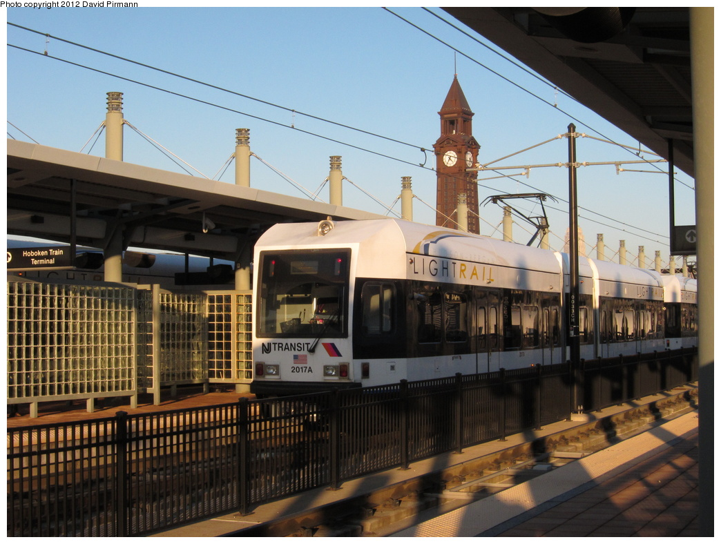 (329k, 1044x788)<br><b>Country:</b> United States<br><b>City:</b> Hoboken, NJ<br><b>System:</b> Hudson Bergen Light Rail<br><b>Location:</b> Hoboken <br><b>Car:</b> NJT-HBLR LRV (Kinki-Sharyo, 1998-99)  2017 <br><b>Photo by:</b> David Pirmann<br><b>Date:</b> 2/6/2012<br><b>Viewed (this week/total):</b> 1 / 122