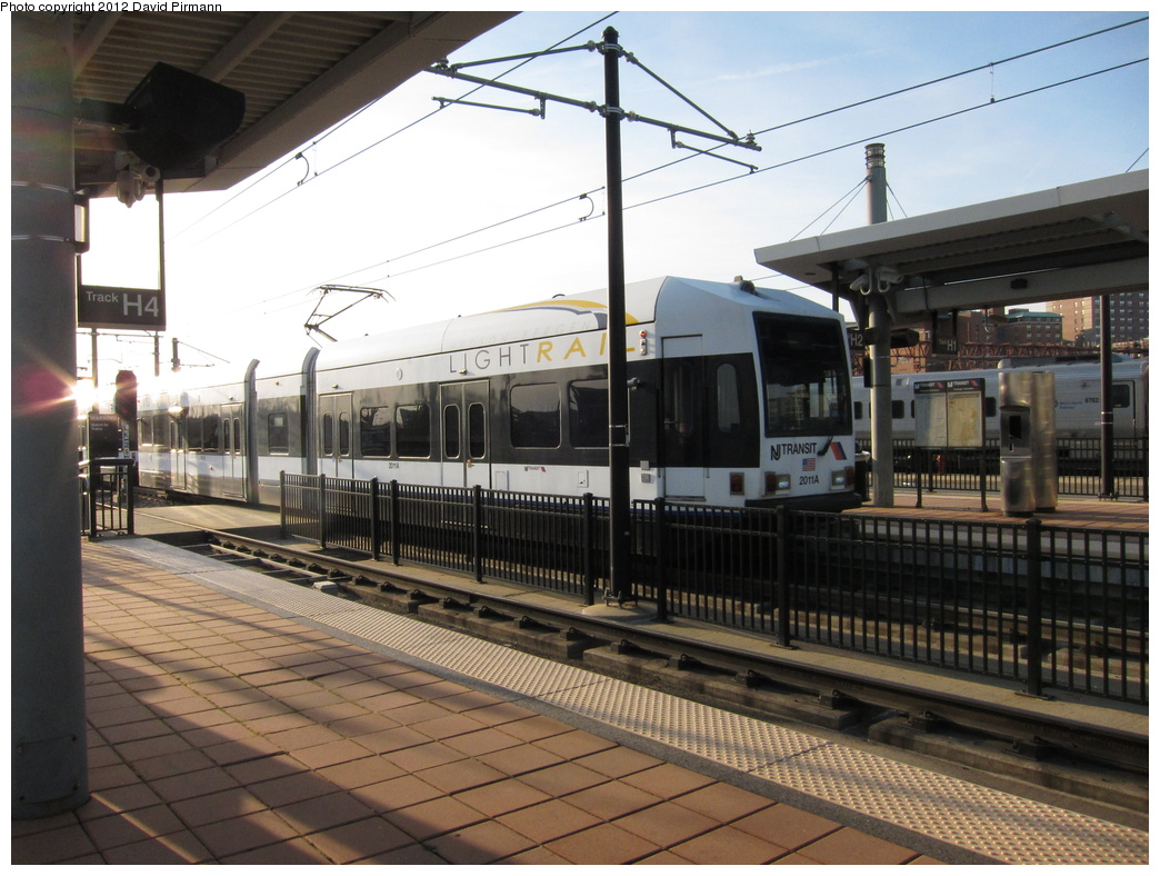 (321k, 1044x788)<br><b>Country:</b> United States<br><b>City:</b> Hoboken, NJ<br><b>System:</b> Hudson Bergen Light Rail<br><b>Location:</b> Hoboken <br><b>Car:</b> NJT-HBLR LRV (Kinki-Sharyo, 1998-99)  2011 <br><b>Photo by:</b> David Pirmann<br><b>Date:</b> 3/7/2012<br><b>Viewed (this week/total):</b> 1 / 118