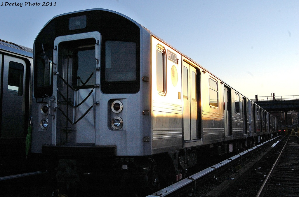 (292k, 1024x676)<br><b>Country:</b> United States<br><b>City:</b> New York<br><b>System:</b> New York City Transit<br><b>Location:</b> 239th Street Yard<br><b>Car:</b> R-110A (Kawasaki, 1992) 8006 <br><b>Photo by:</b> John Dooley<br><b>Date:</b> 12/8/2011<br><b>Viewed (this week/total):</b> 2 / 510