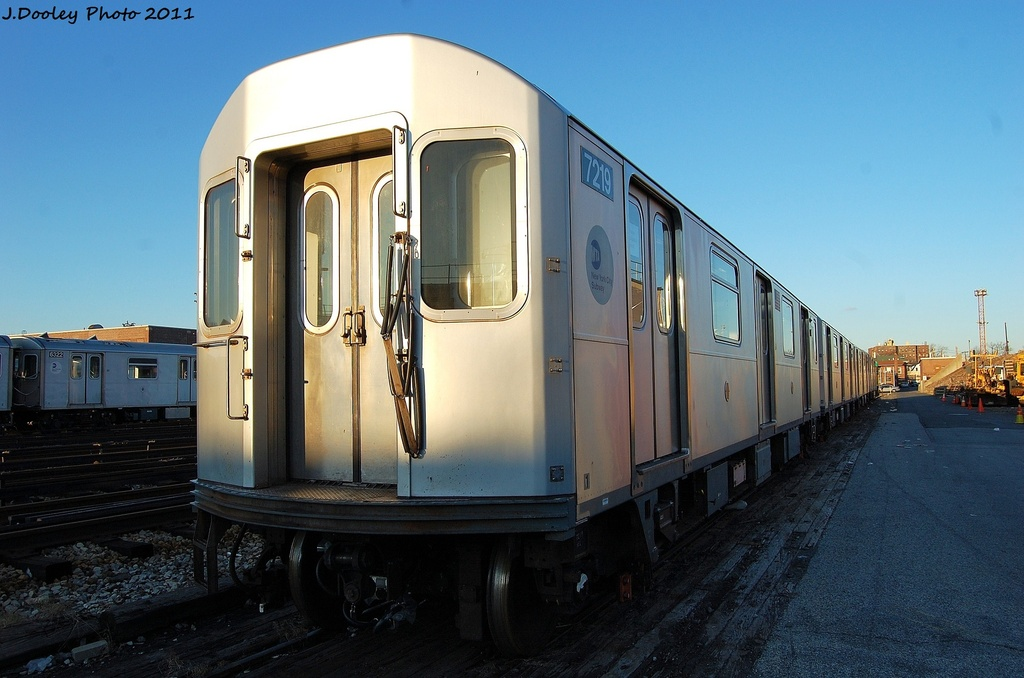 (276k, 1024x678)<br><b>Country:</b> United States<br><b>City:</b> New York<br><b>System:</b> New York City Transit<br><b>Location:</b> 239th Street Yard<br><b>Car:</b> R-142A (Primary Order, Kawasaki, 1999-2002)  7219 <br><b>Photo by:</b> John Dooley<br><b>Date:</b> 12/8/2011<br><b>Viewed (this week/total):</b> 1 / 947