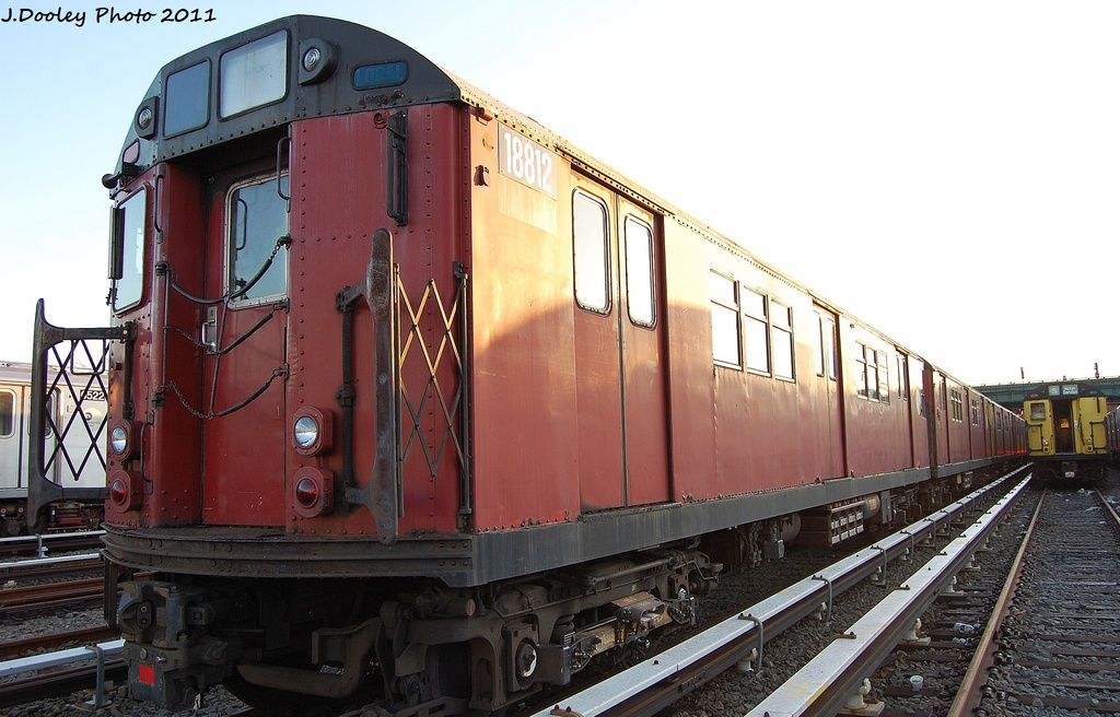 (285k, 1024x656)<br><b>Country:</b> United States<br><b>City:</b> New York<br><b>System:</b> New York City Transit<br><b>Location:</b> 239th Street Yard<br><b>Car:</b> R-33 Main Line (St. Louis, 1962-63) 8812 <br><b>Photo by:</b> John Dooley<br><b>Date:</b> 12/8/2011<br><b>Viewed (this week/total):</b> 0 / 739
