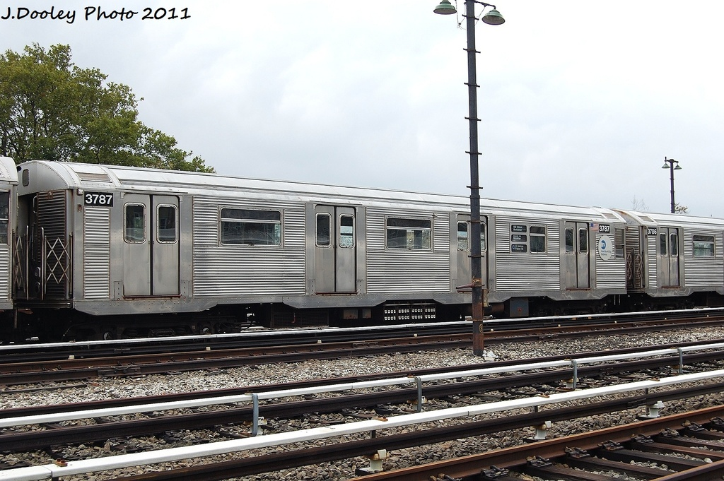 (355k, 1024x681)<br><b>Country:</b> United States<br><b>City:</b> New York<br><b>System:</b> New York City Transit<br><b>Location:</b> Fresh Pond Yard<br><b>Car:</b> R-32 (Budd, 1964)  3787 <br><b>Photo by:</b> John Dooley<br><b>Date:</b> 9/20/2011<br><b>Viewed (this week/total):</b> 1 / 211