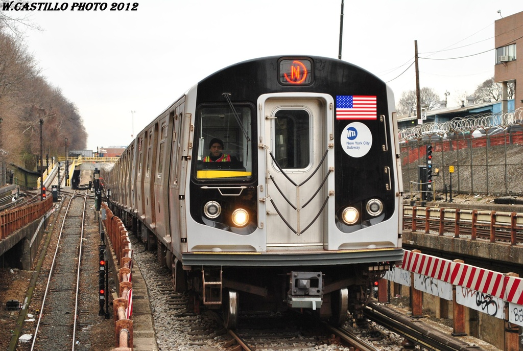 (332k, 1024x687)<br><b>Country:</b> United States<br><b>City:</b> New York<br><b>System:</b> New York City Transit<br><b>Line:</b> BMT West End Line<br><b>Location:</b> 9th Avenue <br><b>Route:</b> N reroute<br><b>Car:</b> R-160A/R-160B Series (Number Unknown)  <br><b>Photo by:</b> Wilfredo Castillo<br><b>Date:</b> 3/1/2012<br><b>Viewed (this week/total):</b> 1 / 450