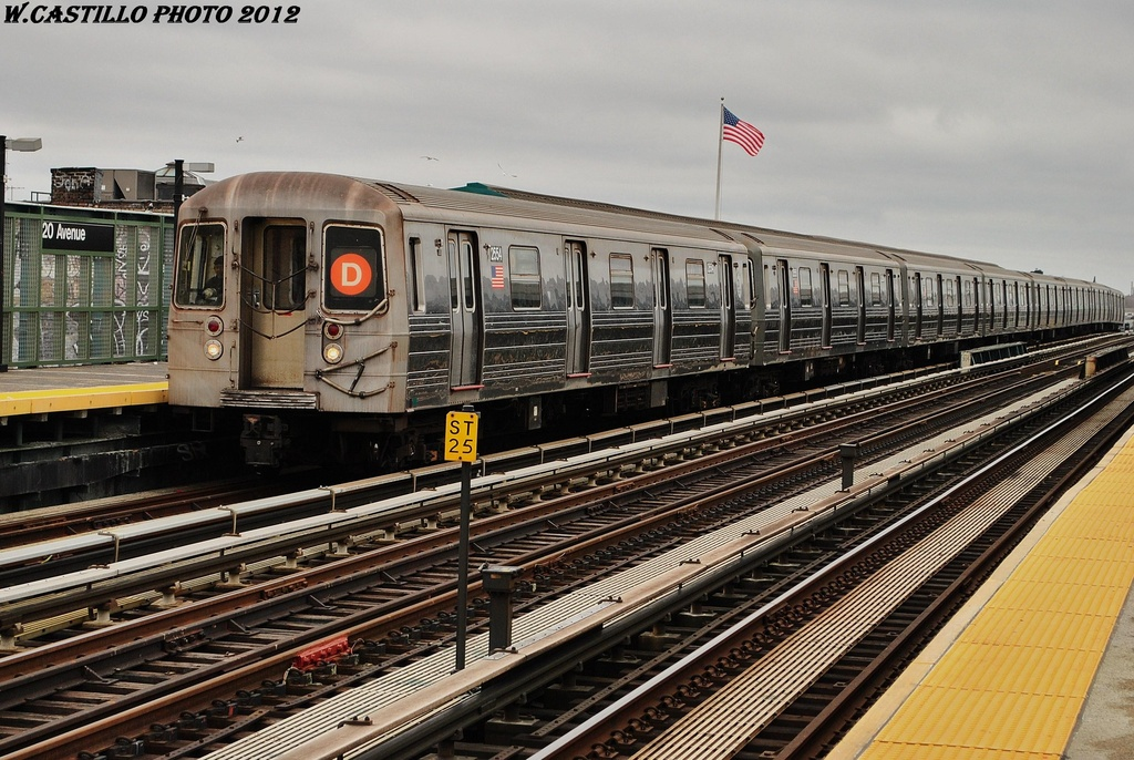 (364k, 1024x686)<br><b>Country:</b> United States<br><b>City:</b> New York<br><b>System:</b> New York City Transit<br><b>Line:</b> BMT West End Line<br><b>Location:</b> 20th Avenue <br><b>Route:</b> D<br><b>Car:</b> R-68 (Westinghouse-Amrail, 1986-1988)  2554 <br><b>Photo by:</b> Wilfredo Castillo<br><b>Date:</b> 3/1/2012<br><b>Viewed (this week/total):</b> 2 / 241