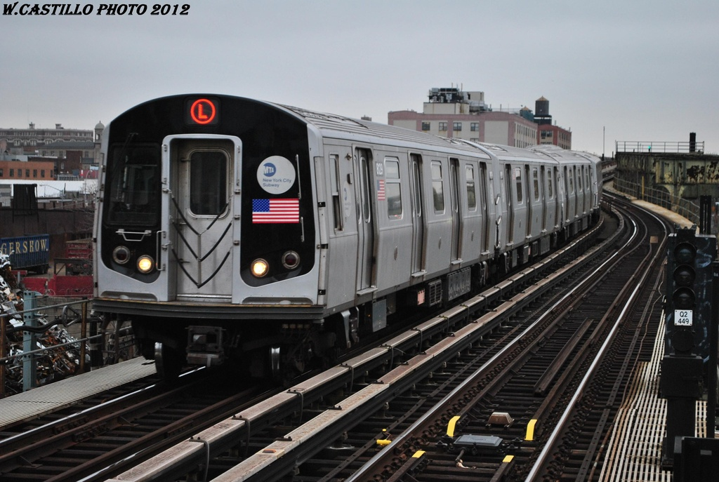 (291k, 1024x687)<br><b>Country:</b> United States<br><b>City:</b> New York<br><b>System:</b> New York City Transit<br><b>Line:</b> BMT Canarsie Line<br><b>Location:</b> Sutter Avenue <br><b>Route:</b> L<br><b>Car:</b> R-143 (Kawasaki, 2001-2002) 8129 <br><b>Photo by:</b> Wilfredo Castillo<br><b>Date:</b> 3/15/2012<br><b>Viewed (this week/total):</b> 4 / 723