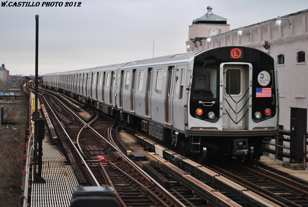 (301k, 1024x687)<br><b>Country:</b> United States<br><b>City:</b> New York<br><b>System:</b> New York City Transit<br><b>Line:</b> BMT Canarsie Line<br><b>Location:</b> Livonia Avenue <br><b>Route:</b> L<br><b>Car:</b> R-143 (Kawasaki, 2001-2002) 8296 <br><b>Photo by:</b> Wilfredo Castillo<br><b>Date:</b> 3/15/2012<br><b>Viewed (this week/total):</b> 3 / 260