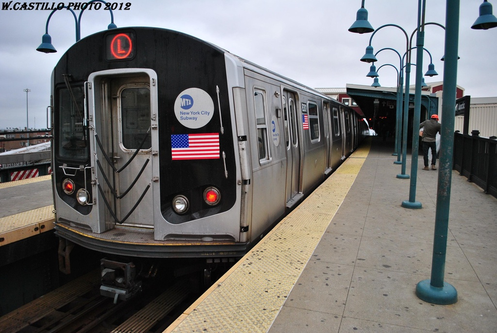(294k, 1024x687)<br><b>Country:</b> United States<br><b>City:</b> New York<br><b>System:</b> New York City Transit<br><b>Line:</b> BMT Canarsie Line<br><b>Location:</b> Broadway Junction <br><b>Route:</b> L<br><b>Car:</b> R-143 (Kawasaki, 2001-2002) 8301 <br><b>Photo by:</b> Wilfredo Castillo<br><b>Date:</b> 3/15/2012<br><b>Viewed (this week/total):</b> 0 / 583