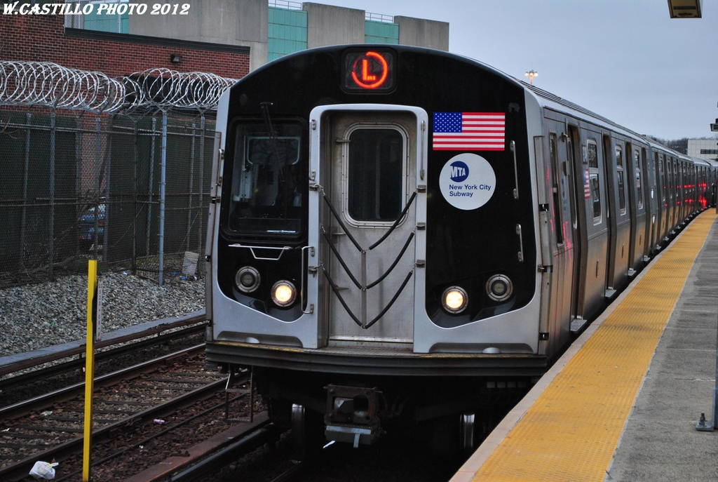 (315k, 1024x687)<br><b>Country:</b> United States<br><b>City:</b> New York<br><b>System:</b> New York City Transit<br><b>Line:</b> BMT Canarsie Line<br><b>Location:</b> East 105th Street <br><b>Route:</b> L<br><b>Car:</b> R-143 (Kawasaki, 2001-2002) 8349 <br><b>Photo by:</b> Wilfredo Castillo<br><b>Date:</b> 3/15/2012<br><b>Viewed (this week/total):</b> 2 / 394