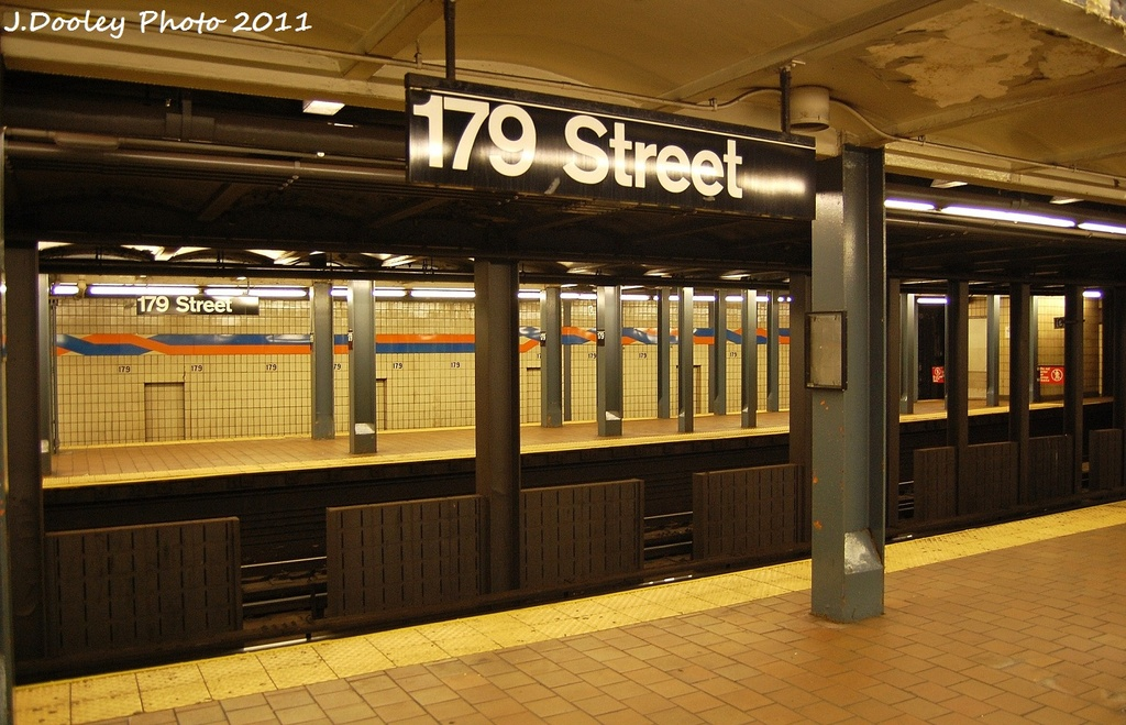 (328k, 1024x659)<br><b>Country:</b> United States<br><b>City:</b> New York<br><b>System:</b> New York City Transit<br><b>Line:</b> IND Queens Boulevard Line<br><b>Location:</b> 179th Street <br><b>Photo by:</b> John Dooley<br><b>Date:</b> 10/30/2011<br><b>Viewed (this week/total):</b> 4 / 624