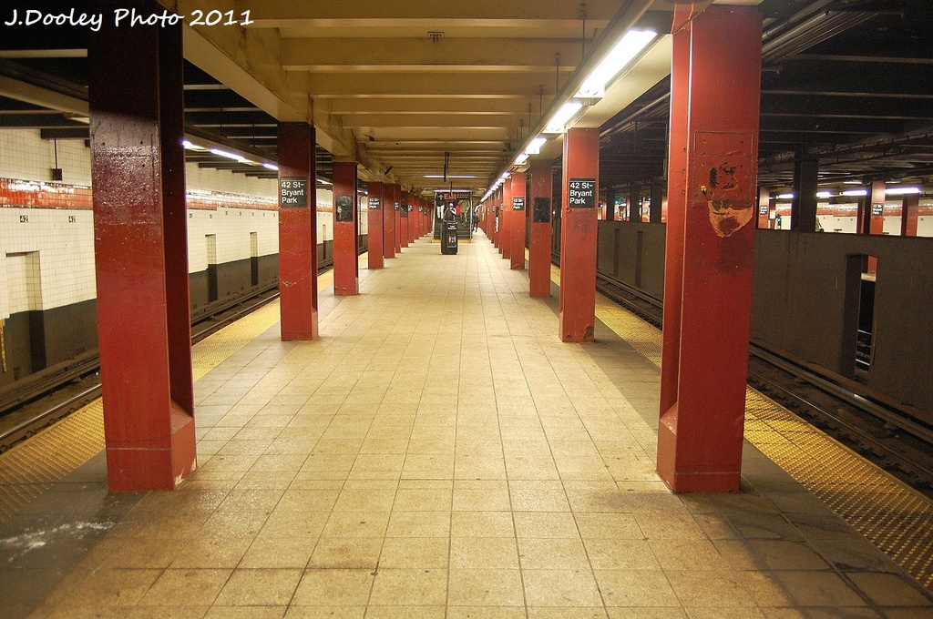 (372k, 1024x680)<br><b>Country:</b> United States<br><b>City:</b> New York<br><b>System:</b> New York City Transit<br><b>Line:</b> IND 6th Avenue Line<br><b>Location:</b> 42nd Street/Bryant Park <br><b>Photo by:</b> John Dooley<br><b>Date:</b> 10/30/2011<br><b>Viewed (this week/total):</b> 1 / 252