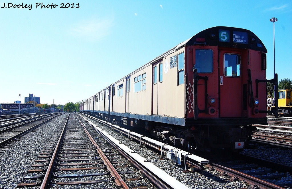 (355k, 1024x665)<br><b>Country:</b> United States<br><b>City:</b> New York<br><b>System:</b> New York City Transit<br><b>Location:</b> Unionport Yard<br><b>Car:</b> R-36 World's Fair (St. Louis, 1963-64) 9583 <br><b>Photo by:</b> John Dooley<br><b>Date:</b> 10/28/2011<br><b>Viewed (this week/total):</b> 0 / 409