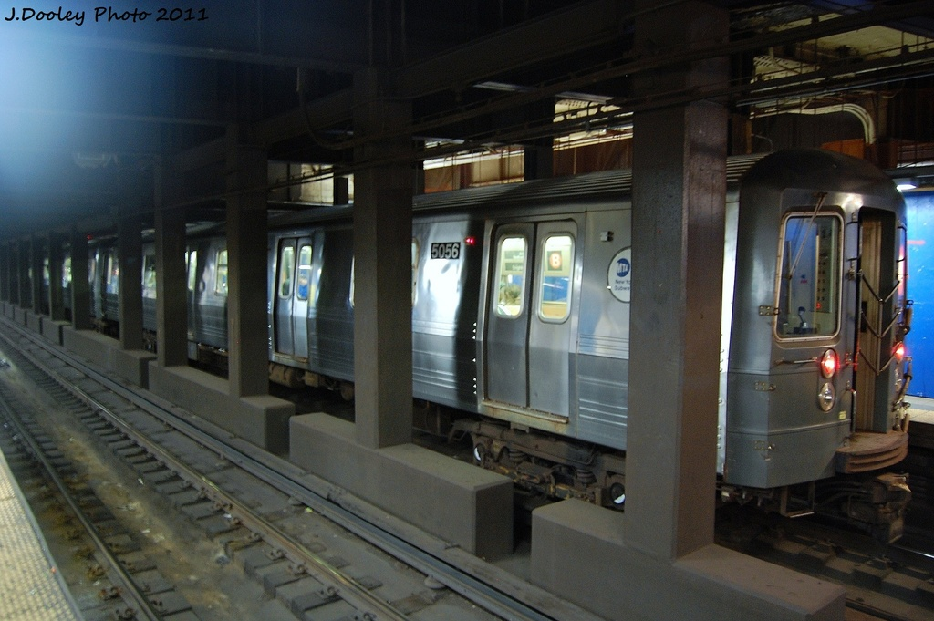(291k, 1024x681)<br><b>Country:</b> United States<br><b>City:</b> New York<br><b>System:</b> New York City Transit<br><b>Line:</b> IND 6th Avenue Line<br><b>Location:</b> Broadway/Lafayette <br><b>Route:</b> D<br><b>Car:</b> R-68A (Kawasaki, 1988-1989)  5056 <br><b>Photo by:</b> John Dooley<br><b>Date:</b> 10/12/2011<br><b>Viewed (this week/total):</b> 5 / 734