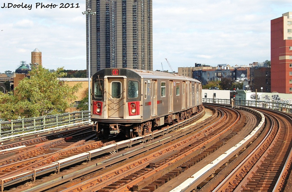 (443k, 1024x673)<br><b>Country:</b> United States<br><b>City:</b> New York<br><b>System:</b> New York City Transit<br><b>Line:</b> IRT Woodlawn Line<br><b>Location:</b> Bedford Park Boulevard <br><b>Route:</b> 4<br><b>Car:</b> R-142 (Option Order, Bombardier, 2002-2003)  7145 <br><b>Photo by:</b> John Dooley<br><b>Date:</b> 10/23/2011<br><b>Viewed (this week/total):</b> 1 / 251