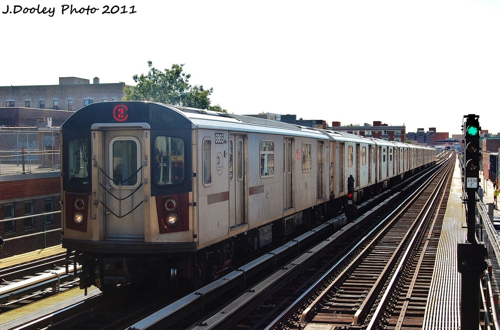 (307k, 1024x675)<br><b>Country:</b> United States<br><b>City:</b> New York<br><b>System:</b> New York City Transit<br><b>Line:</b> IRT White Plains Road Line<br><b>Location:</b> 174th Street <br><b>Route:</b> 2<br><b>Car:</b> R-142 (Primary Order, Bombardier, 1999-2002)  6865 <br><b>Photo by:</b> John Dooley<br><b>Date:</b> 10/28/2011<br><b>Viewed (this week/total):</b> 0 / 930