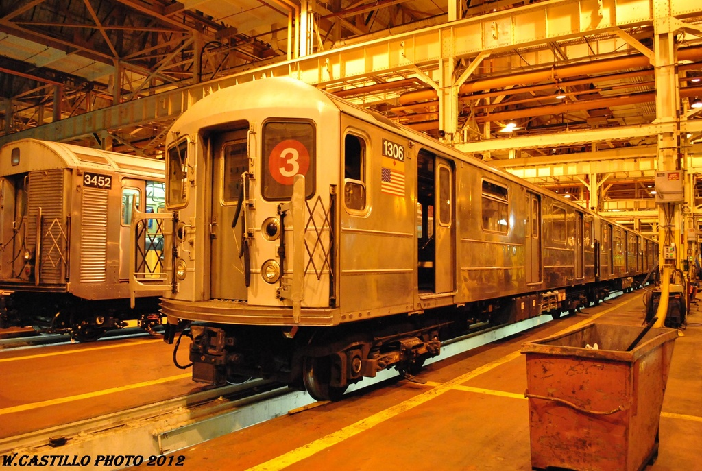 (368k, 1024x687)<br><b>Country:</b> United States<br><b>City:</b> New York<br><b>System:</b> New York City Transit<br><b>Location:</b> Coney Island Shop/Overhaul & Repair Shop<br><b>Car:</b> R-62 (Kawasaki, 1983-1985)  1306 <br><b>Photo by:</b> Wilfredo Castillo<br><b>Date:</b> 2/26/2012<br><b>Viewed (this week/total):</b> 2 / 476
