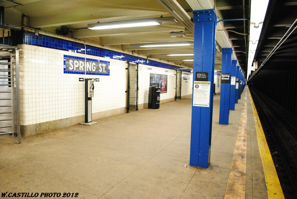 (287k, 1024x687)<br><b>Country:</b> United States<br><b>City:</b> New York<br><b>System:</b> New York City Transit<br><b>Line:</b> IND 8th Avenue Line<br><b>Location:</b> Spring Street <br><b>Photo by:</b> Wilfredo Castillo<br><b>Date:</b> 3/27/2012<br><b>Viewed (this week/total):</b> 6 / 343