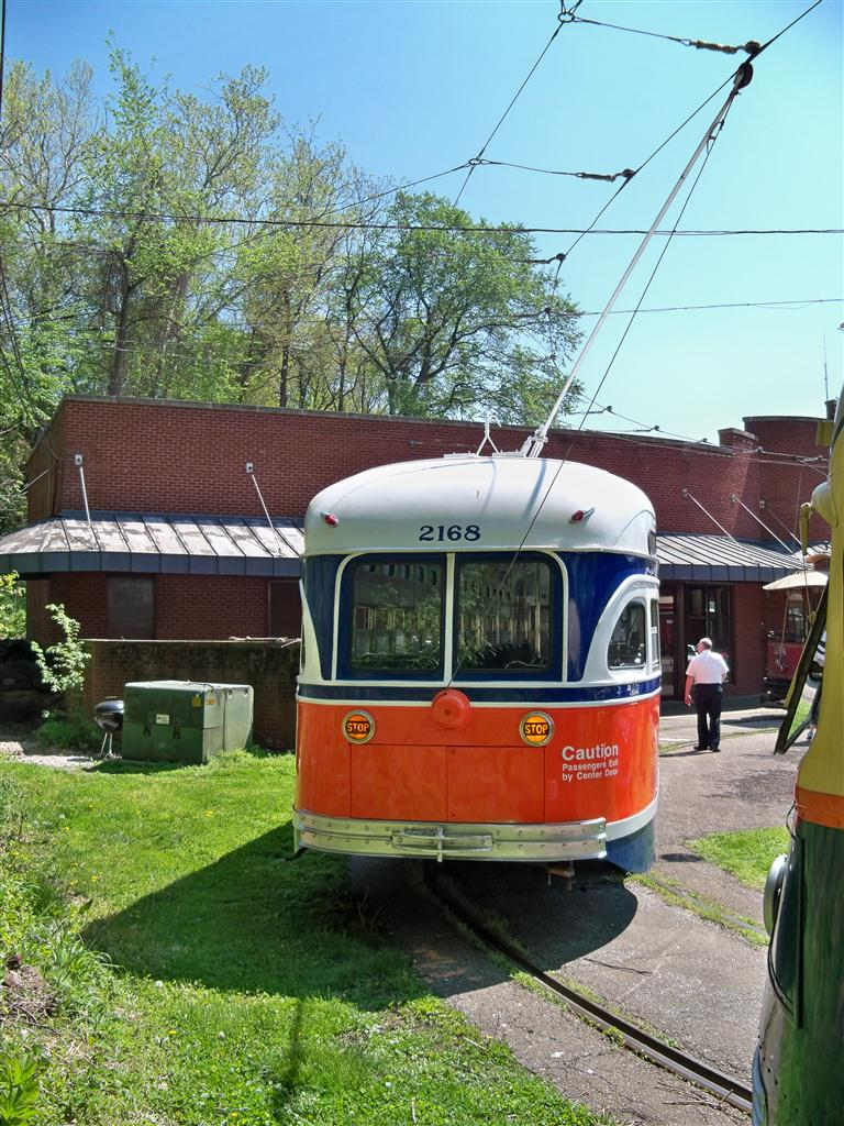 (195k, 768x1024)<br><b>Country:</b> United States<br><b>City:</b> Baltimore, MD<br><b>System:</b> Baltimore Streetcar Museum <br><b>Car:</b> PTC/SEPTA Postwar All-electric PCC (St.Louis, 1948)  2168 <br><b>Photo by:</b> Fran Rogers<br><b>Date:</b> 4/11/2010<br><b>Viewed (this week/total):</b> 0 / 127