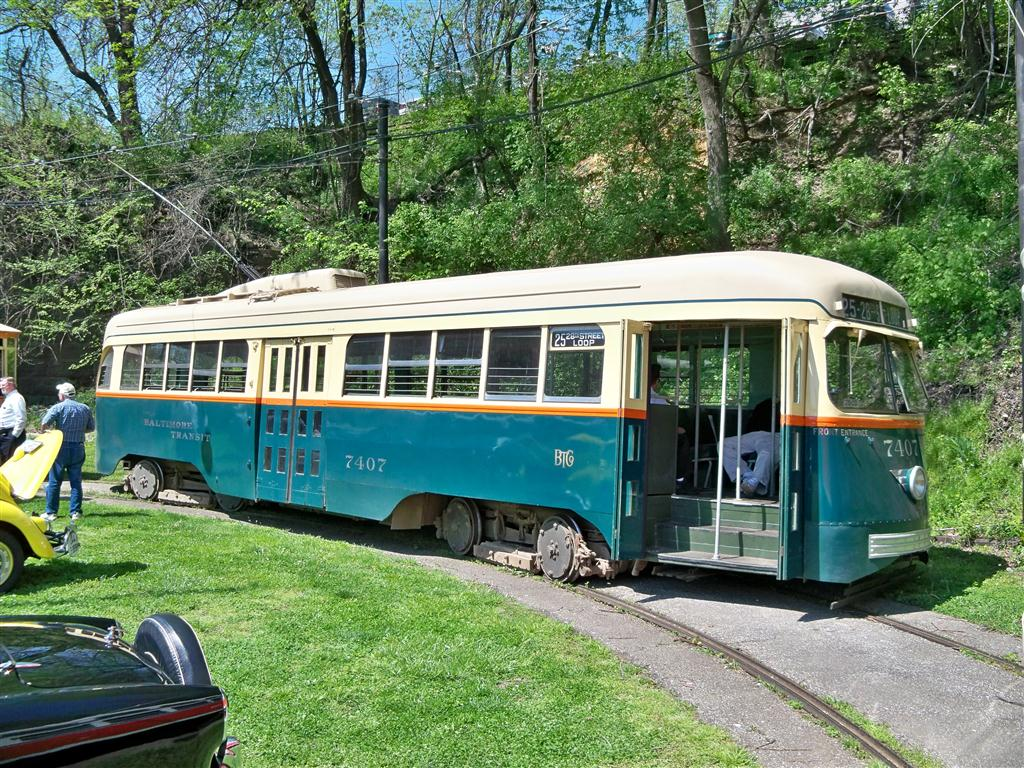 (254k, 1024x768)<br><b>Country:</b> United States<br><b>City:</b> Baltimore, MD<br><b>System:</b> Baltimore Streetcar Museum <br><b>Car:</b> PCC 7407 <br><b>Photo by:</b> Fran Rogers<br><b>Date:</b> 4/11/2010<br><b>Viewed (this week/total):</b> 1 / 474