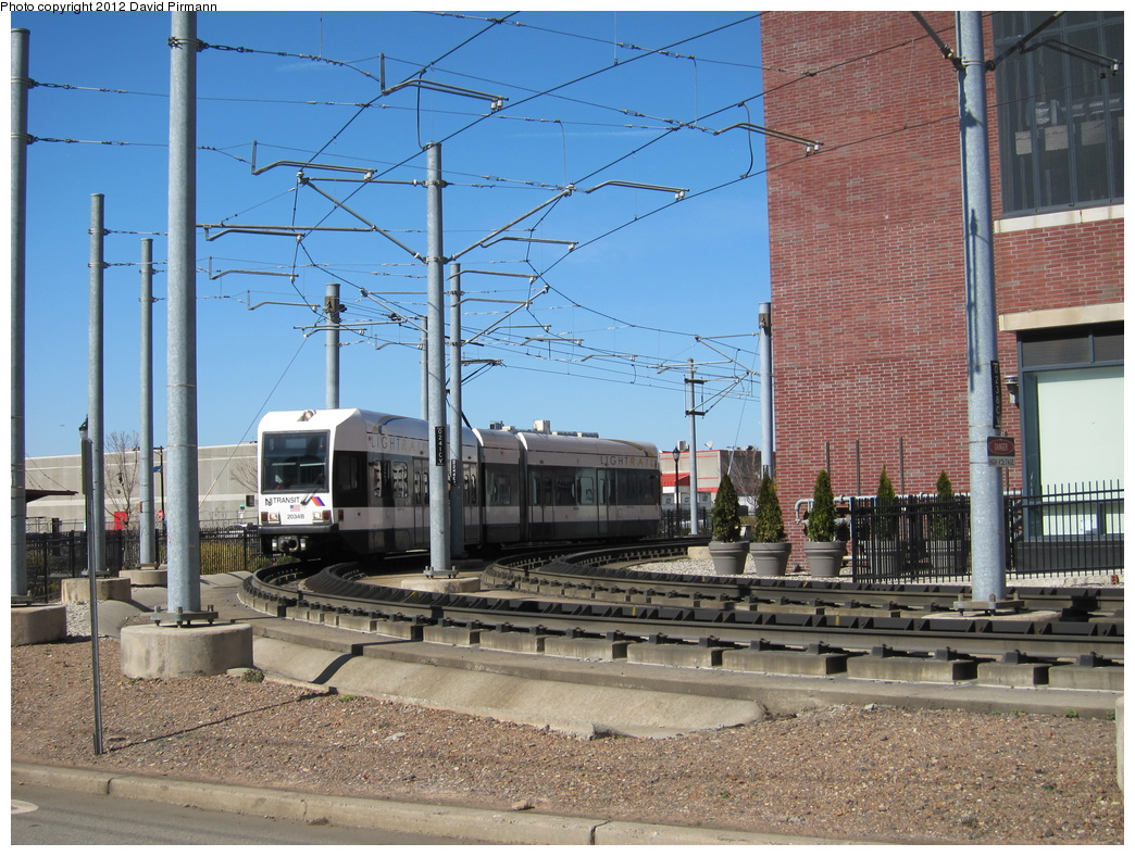 (396k, 1044x788)<br><b>Country:</b> United States<br><b>City:</b> Jersey City, NJ<br><b>System:</b> Hudson Bergen Light Rail<br><b>Location:</b> Between Washington St. and Harsimus Cove <br><b>Car:</b> NJT-HBLR LRV (Kinki-Sharyo, 1998-99)  2034 <br><b>Photo by:</b> David Pirmann<br><b>Date:</b> 3/11/2012<br><b>Viewed (this week/total):</b> 0 / 130
