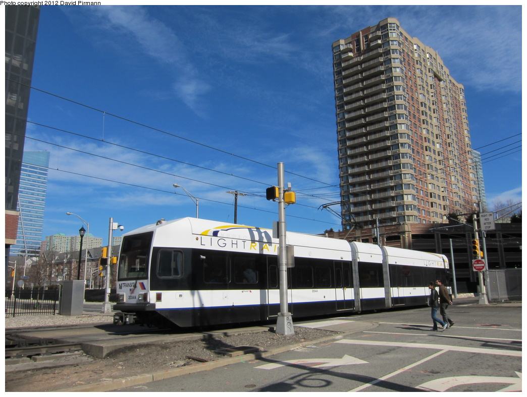 (318k, 1044x788)<br><b>Country:</b> United States<br><b>City:</b> Jersey City, NJ<br><b>System:</b> Hudson Bergen Light Rail<br><b>Location:</b> Washington St. Grade Crossing <br><b>Car:</b> NJT-HBLR LRV (Kinki-Sharyo, 1998-99)  2034 <br><b>Photo by:</b> David Pirmann<br><b>Date:</b> 3/11/2012<br><b>Viewed (this week/total):</b> 0 / 101