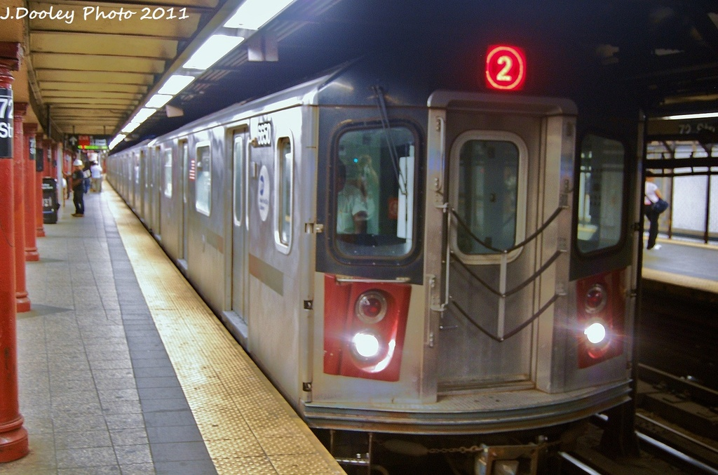 (302k, 1024x677)<br><b>Country:</b> United States<br><b>City:</b> New York<br><b>System:</b> New York City Transit<br><b>Line:</b> IRT West Side Line<br><b>Location:</b> 72nd Street <br><b>Route:</b> 2<br><b>Car:</b> R-142 (Primary Order, Bombardier, 1999-2002)  6650 <br><b>Photo by:</b> John Dooley<br><b>Date:</b> 9/3/2011<br><b>Viewed (this week/total):</b> 1 / 1134