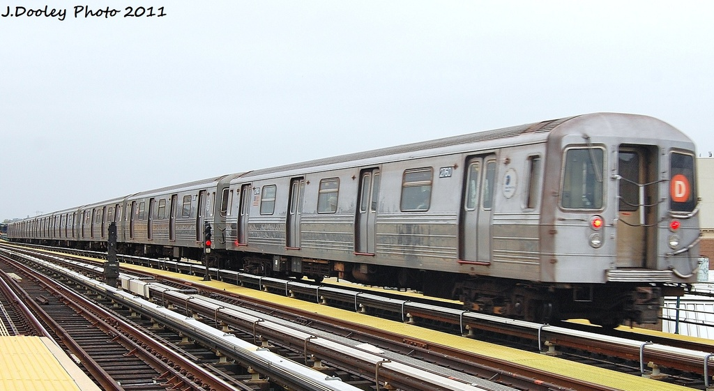 (275k, 1024x561)<br><b>Country:</b> United States<br><b>City:</b> New York<br><b>System:</b> New York City Transit<br><b>Line:</b> BMT West End Line<br><b>Location:</b> 50th Street <br><b>Route:</b> D<br><b>Car:</b> R-68 (Westinghouse-Amrail, 1986-1988)  2760 <br><b>Photo by:</b> John Dooley<br><b>Date:</b> 10/12/2011<br><b>Viewed (this week/total):</b> 1 / 338