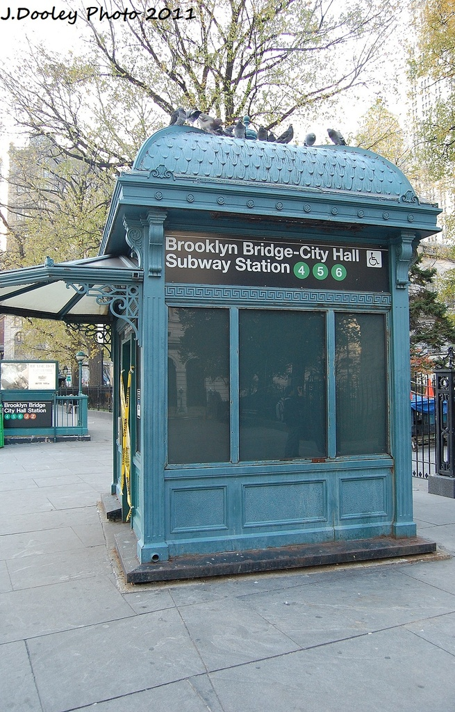 (418k, 655x1024)<br><b>Country:</b> United States<br><b>City:</b> New York<br><b>System:</b> New York City Transit<br><b>Line:</b> IRT East Side Line<br><b>Location:</b> Brooklyn Bridge/City Hall <br><b>Photo by:</b> John Dooley<br><b>Date:</b> 12/4/2011<br><b>Notes:</b> Elevator entrance.<br><b>Viewed (this week/total):</b> 0 / 494