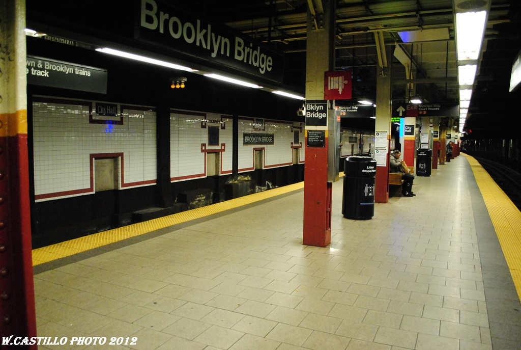 (267k, 1024x687)<br><b>Country:</b> United States<br><b>City:</b> New York<br><b>System:</b> New York City Transit<br><b>Line:</b> IRT East Side Line<br><b>Location:</b> Brooklyn Bridge/City Hall <br><b>Photo by:</b> Wilfredo Castillo<br><b>Date:</b> 3/31/2012<br><b>Viewed (this week/total):</b> 2 / 490