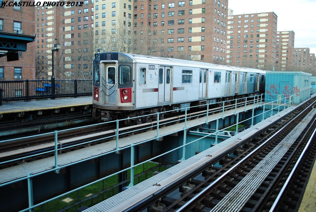 (394k, 1024x687)<br><b>Country:</b> United States<br><b>City:</b> New York<br><b>System:</b> New York City Transit<br><b>Line:</b> IRT Brooklyn Line<br><b>Location:</b> Rockaway Avenue <br><b>Route:</b> 2<br><b>Car:</b> R-142 (Primary Order, Bombardier, 1999-2002)  6806 <br><b>Photo by:</b> Wilfredo Castillo<br><b>Date:</b> 3/29/2012<br><b>Viewed (this week/total):</b> 9 / 519