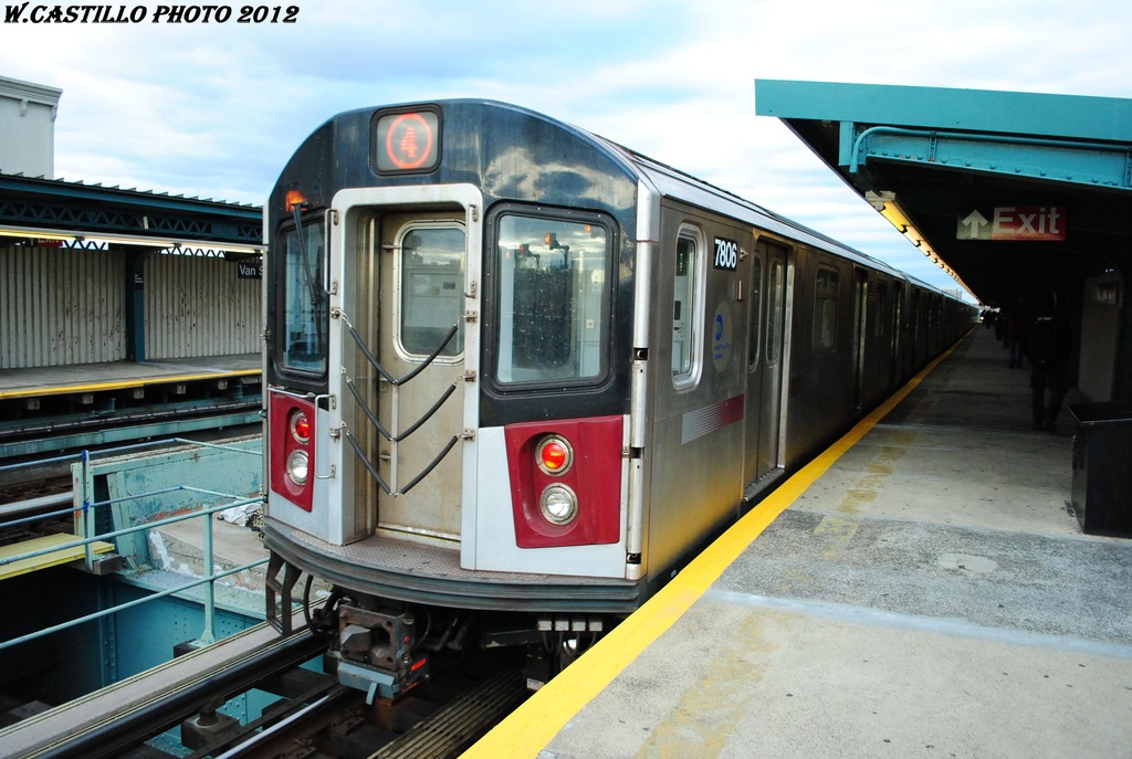 (296k, 1024x687)<br><b>Country:</b> United States<br><b>City:</b> New York<br><b>System:</b> New York City Transit<br><b>Line:</b> IRT Brooklyn Line<br><b>Location:</b> Van Siclen Avenue <br><b>Route:</b> 4<br><b>Car:</b> R-142A (Supplemental Order, Kawasaki, 2003-2004)  7806 <br><b>Photo by:</b> Wilfredo Castillo<br><b>Date:</b> 3/29/2012<br><b>Viewed (this week/total):</b> 4 / 305
