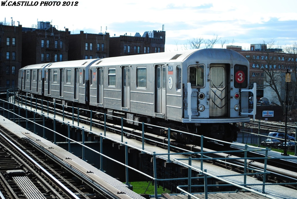 (351k, 1024x687)<br><b>Country:</b> United States<br><b>City:</b> New York<br><b>System:</b> New York City Transit<br><b>Line:</b> IRT Brooklyn Line<br><b>Location:</b> Sutter Avenue/Rutland Road <br><b>Route:</b> 3<br><b>Car:</b> R-62 (Kawasaki, 1983-1985)  1536 <br><b>Photo by:</b> Wilfredo Castillo<br><b>Date:</b> 3/29/2012<br><b>Viewed (this week/total):</b> 3 / 772