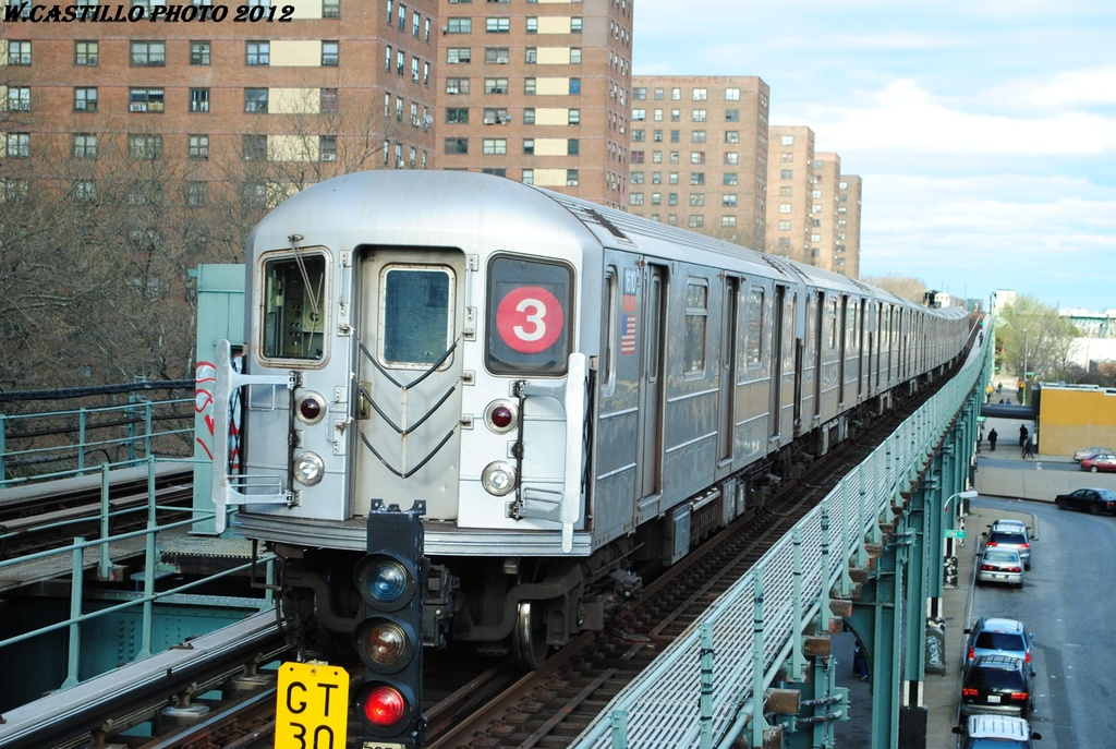 (346k, 1024x687)<br><b>Country:</b> United States<br><b>City:</b> New York<br><b>System:</b> New York City Transit<br><b>Line:</b> IRT Brooklyn Line<br><b>Location:</b> Rockaway Avenue <br><b>Route:</b> 3<br><b>Car:</b> R-62 (Kawasaki, 1983-1985)  1610 <br><b>Photo by:</b> Wilfredo Castillo<br><b>Date:</b> 3/29/2012<br><b>Viewed (this week/total):</b> 3 / 278