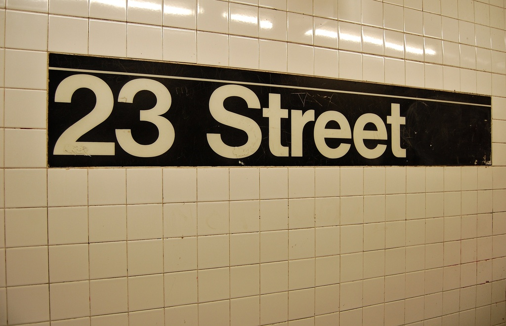 (224k, 1024x660)<br><b>Country:</b> United States<br><b>City:</b> New York<br><b>System:</b> New York City Transit<br><b>Line:</b> IRT West Side Line<br><b>Location:</b> 23rd Street <br><b>Photo by:</b> John Dooley<br><b>Date:</b> 2/26/2012<br><b>Viewed (this week/total):</b> 3 / 665