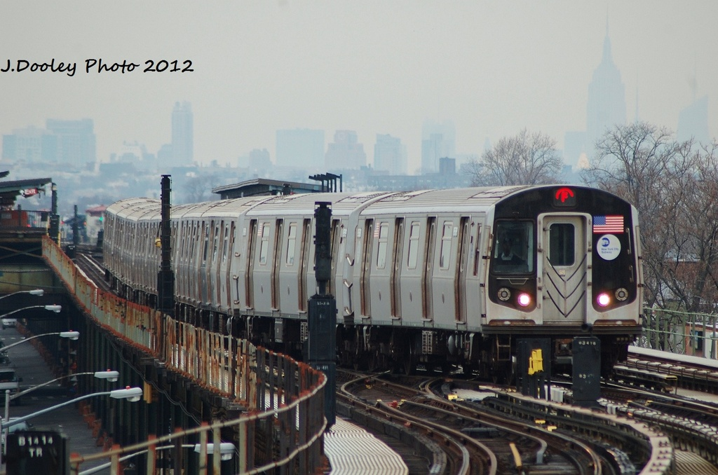 (289k, 1024x678)<br><b>Country:</b> United States<br><b>City:</b> New York<br><b>System:</b> New York City Transit<br><b>Line:</b> BMT Culver Line<br><b>Location:</b> Kings Highway <br><b>Route:</b> F<br><b>Car:</b> R-160A (Option 1) (Alstom, 2008-2009, 5 car sets)  9578 <br><b>Photo by:</b> John Dooley<br><b>Date:</b> 1/26/2012<br><b>Viewed (this week/total):</b> 0 / 257