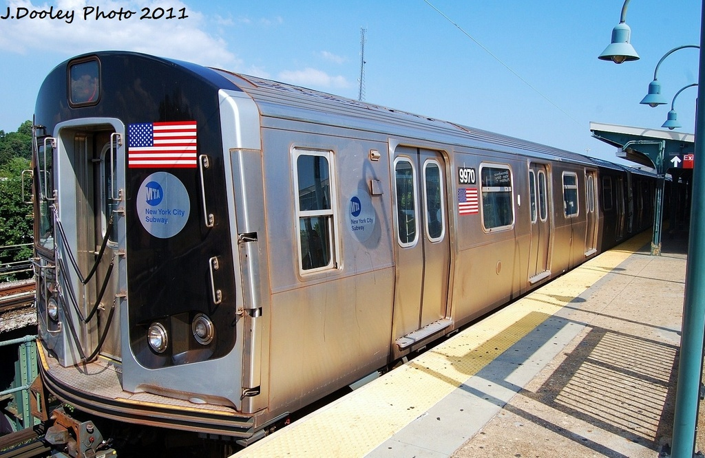 (338k, 1024x666)<br><b>Country:</b> United States<br><b>City:</b> New York<br><b>System:</b> New York City Transit<br><b>Line:</b> BMT Nassau Street/Jamaica Line<br><b>Location:</b> Broadway/East New York (Broadway Junction) <br><b>Route:</b> J<br><b>Car:</b> R-160A (Option 2) (Alstom, 2009, 4-car sets)  9970 <br><b>Photo by:</b> John Dooley<br><b>Date:</b> 8/17/2011<br><b>Viewed (this week/total):</b> 2 / 793