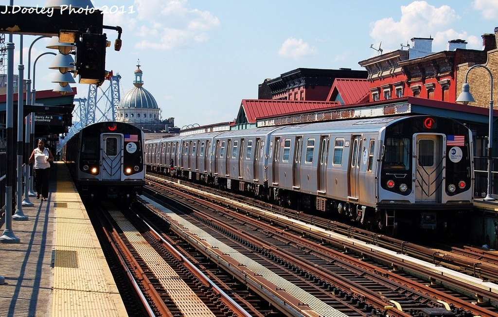 (401k, 1024x652)<br><b>Country:</b> United States<br><b>City:</b> New York<br><b>System:</b> New York City Transit<br><b>Line:</b> BMT Nassau Street/Jamaica Line<br><b>Location:</b> Marcy Avenue <br><b>Route:</b> J<br><b>Car:</b> R-160A-1 (Alstom, 2005-2008, 4 car sets)  8609 <br><b>Photo by:</b> John Dooley<br><b>Date:</b> 8/17/2011<br><b>Viewed (this week/total):</b> 3 / 705
