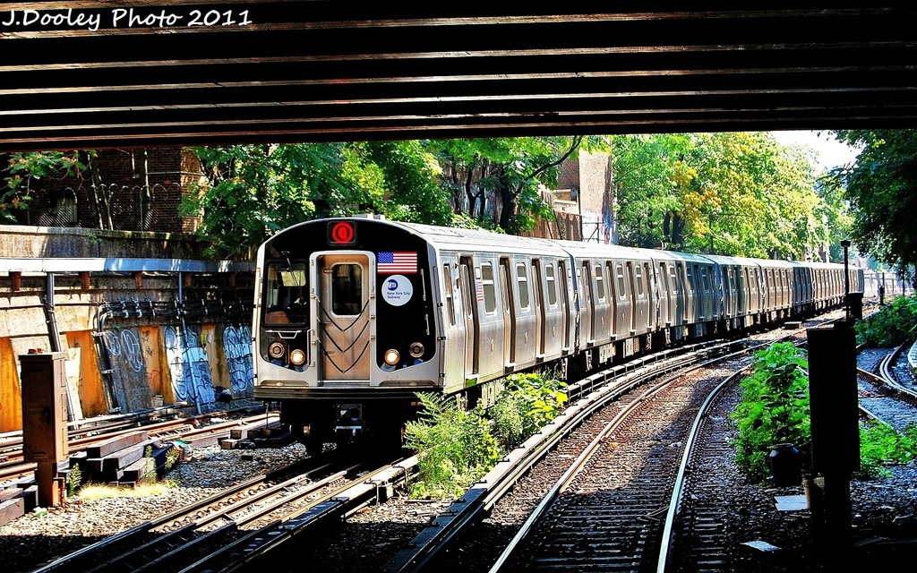 (460k, 1024x640)<br><b>Country:</b> United States<br><b>City:</b> New York<br><b>System:</b> New York City Transit<br><b>Line:</b> BMT Brighton Line<br><b>Location:</b> Prospect Park <br><b>Route:</b> Q<br><b>Car:</b> R-160B (Option 1) (Kawasaki, 2008-2009)  9002 <br><b>Photo by:</b> John Dooley<br><b>Date:</b> 9/12/2011<br><b>Viewed (this week/total):</b> 0 / 850