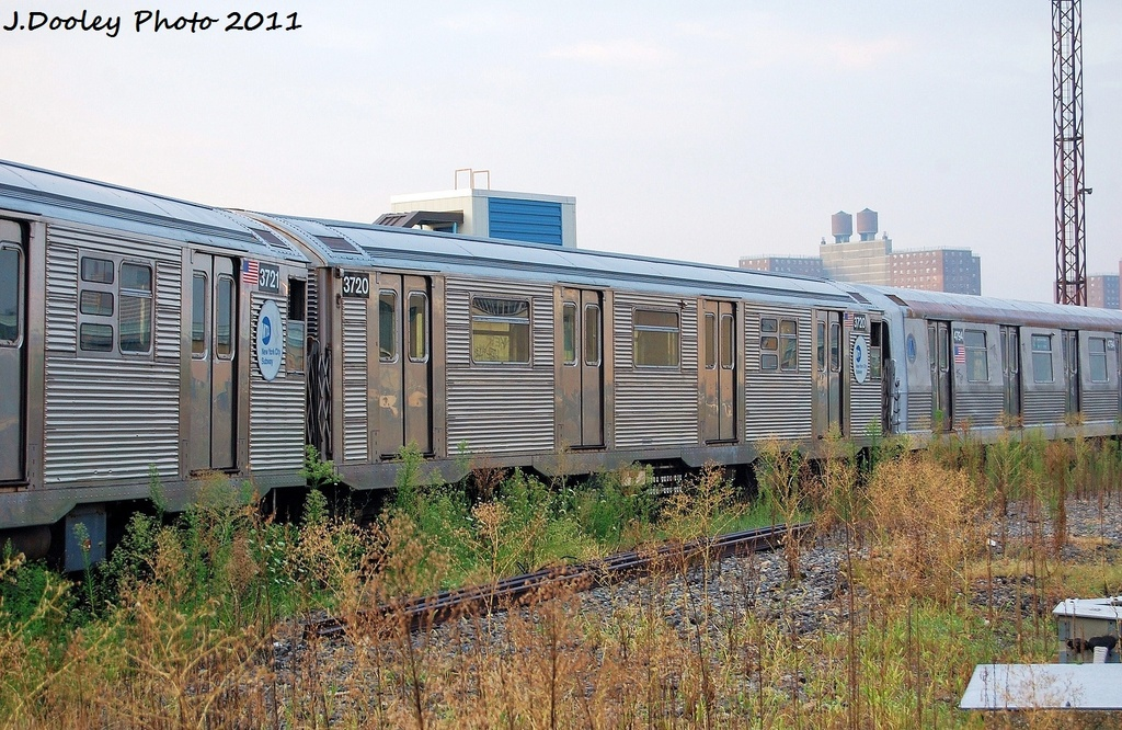(391k, 1024x666)<br><b>Country:</b> United States<br><b>City:</b> New York<br><b>System:</b> New York City Transit<br><b>Location:</b> Coney Island Yard<br><b>Car:</b> R-32 (Budd, 1964)  3720 <br><b>Photo by:</b> John Dooley<br><b>Date:</b> 8/26/2011<br><b>Viewed (this week/total):</b> 3 / 188