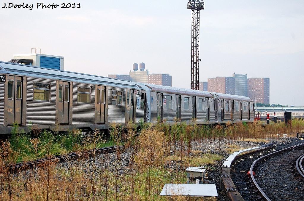 (394k, 1024x679)<br><b>Country:</b> United States<br><b>City:</b> New York<br><b>System:</b> New York City Transit<br><b>Location:</b> Coney Island Yard<br><b>Car:</b> R-32 (Budd, 1964)  3720 <br><b>Photo by:</b> John Dooley<br><b>Date:</b> 8/26/2011<br><b>Notes:</b> With R42 4794<br><b>Viewed (this week/total):</b> 0 / 250