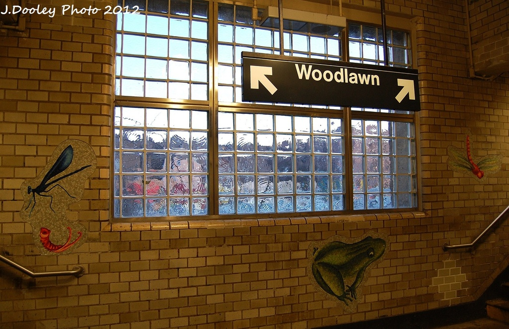 (359k, 1024x662)<br><b>Country:</b> United States<br><b>City:</b> New York<br><b>System:</b> New York City Transit<br><b>Line:</b> IRT Woodlawn Line<br><b>Location:</b> Bedford Park Boulevard <br><b>Photo by:</b> John Dooley<br><b>Date:</b> 1/29/2012<br><b>Artwork:</b> <i>Community Garden</i>, Andrea Deszö (2006).<br><b>Viewed (this week/total):</b> 2 / 385