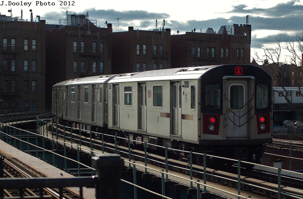 (333k, 1024x673)<br><b>Country:</b> United States<br><b>City:</b> New York<br><b>System:</b> New York City Transit<br><b>Line:</b> IRT Brooklyn Line<br><b>Location:</b> Saratoga Avenue <br><b>Route:</b> 2<br><b>Car:</b> R-142 (Primary Order, Bombardier, 1999-2002)  6650 <br><b>Photo by:</b> John Dooley<br><b>Date:</b> 3/29/2012<br><b>Viewed (this week/total):</b> 1 / 726