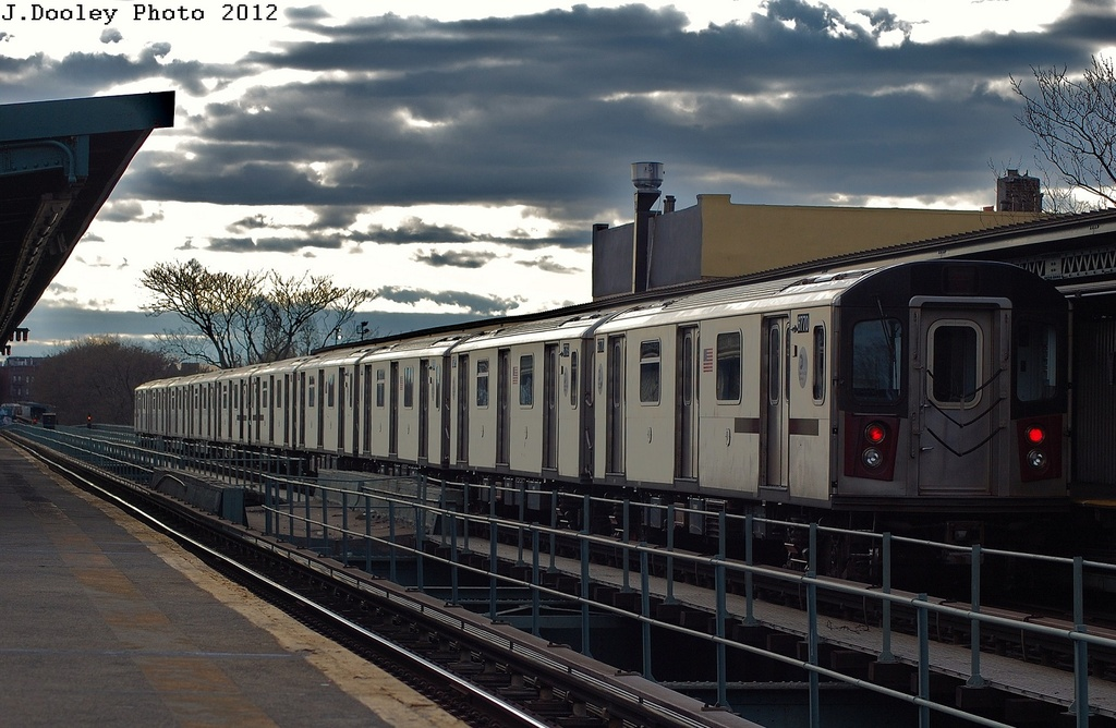 (310k, 1024x668)<br><b>Country:</b> United States<br><b>City:</b> New York<br><b>System:</b> New York City Transit<br><b>Line:</b> IRT Brooklyn Line<br><b>Location:</b> Saratoga Avenue <br><b>Route:</b> 2<br><b>Car:</b> R-142 (Primary Order, Bombardier, 1999-2002)  6770 <br><b>Photo by:</b> John Dooley<br><b>Date:</b> 3/29/2012<br><b>Viewed (this week/total):</b> 2 / 211