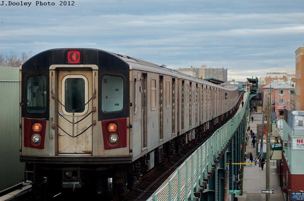 (295k, 1024x680)<br><b>Country:</b> United States<br><b>City:</b> New York<br><b>System:</b> New York City Transit<br><b>Line:</b> IRT Brooklyn Line<br><b>Location:</b> Pennsylvania Avenue <br><b>Route:</b> 4<br><b>Car:</b> R-142 (Option Order, Bombardier, 2002-2003)  7136 <br><b>Photo by:</b> John Dooley<br><b>Date:</b> 3/29/2012<br><b>Viewed (this week/total):</b> 2 / 950