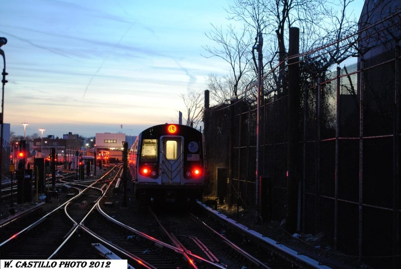 (150k, 800x537)<br><b>Country:</b> United States<br><b>City:</b> New York<br><b>System:</b> New York City Transit<br><b>Line:</b> BMT Canarsie Line<br><b>Location:</b> East 105th Street <br><b>Route:</b> L<br><b>Car:</b> R-143 (Kawasaki, 2001-2002) 8101 <br><b>Photo by:</b> Wilfredo Castillo<br><b>Viewed (this week/total):</b> 2 / 451