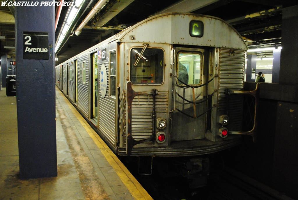 (285k, 1024x687)<br><b>Country:</b> United States<br><b>City:</b> New York<br><b>System:</b> New York City Transit<br><b>Line:</b> IND 6th Avenue Line<br><b>Location:</b> 2nd Avenue <br><b>Route:</b> C reroute<br><b>Car:</b> R-32 (Budd, 1964)  3501 <br><b>Photo by:</b> Wilfredo Castillo<br><b>Date:</b> 3/31/2012<br><b>Viewed (this week/total):</b> 0 / 238
